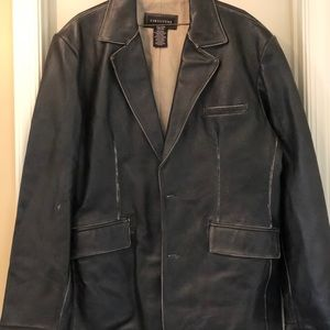 "Men's 2XL Leather jacket by ""Structure"""